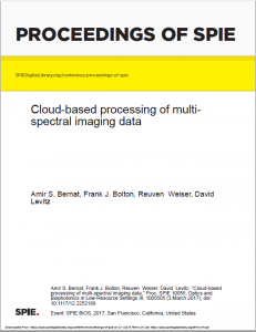Multispectral imaging data by cloud-based processing holds great promise