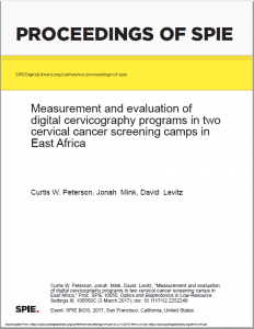Measurement and evaluation of digital cervicography programs in two cervical cancer screening camps in East Africa