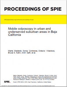 Mobile colposcopy in urban and underserved suburban areas in Baja California