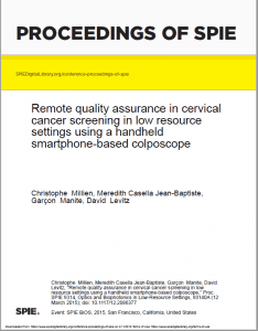 Remote quality assurance in cervical cancer screening in low-resource settings using a mobile smartphone colposcope