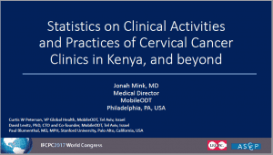 Statistics on Clinical Activities and Practices of Cervical Cancer Screening Camps and Stationary Clinics in Kenya