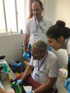 Dr. Goldstein and his team in China´s screening camp