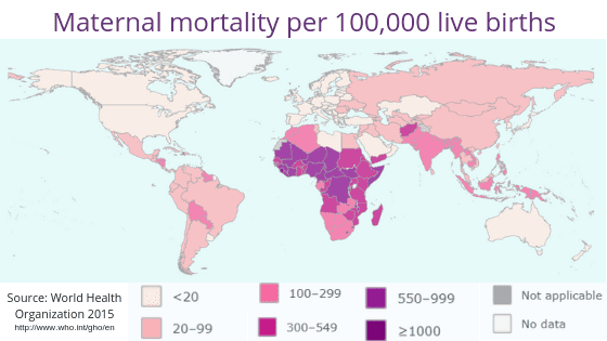 maternal mortality per 100000 live births